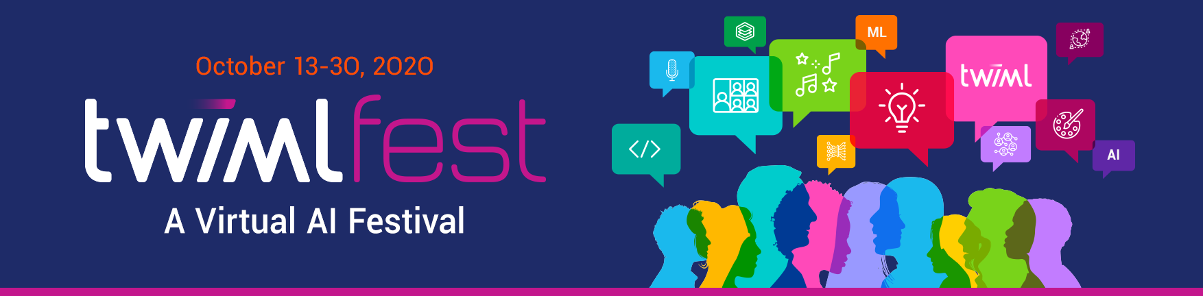 TWIMLfest Banner: Virtual AI Festival